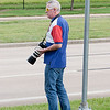 My friend Paul with camera ready, waiting for Endeavour's fly-over.