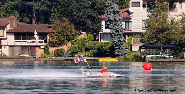 Spanaway Hydroplane Races Sunday 09-07-14