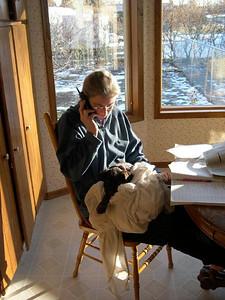 : En deciembre 2003 (dos mil tres) mi esposo y yo estamos a vacaciones a Patagonia en Chile y Argentina.