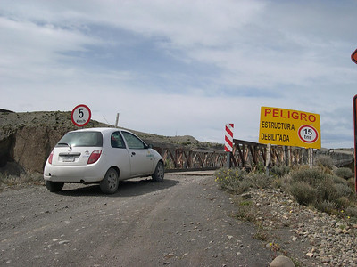 Rental car on the way to Fitz Roy, Argentina