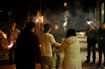 Sparklers at Bowdoin