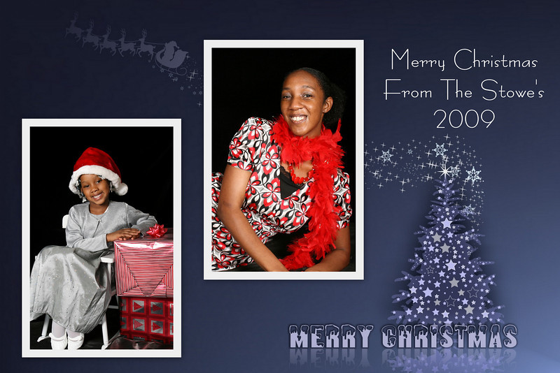 Christmas Card Gray Tree