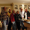 John Rohter, Mickie Jaissle, Ty Kline, Louis Beckerman, Sally Kruger, Gordon Ayer, Joel Larson at Gordon Ayers' home October 2