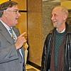 Chuck Kruger, '73 and Nasson Philosophy Professor, David Travers