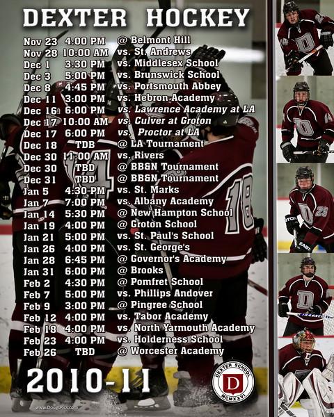 Dexter Schedule 2010-11