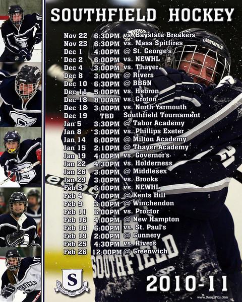Soutfield Schedule 2010-11