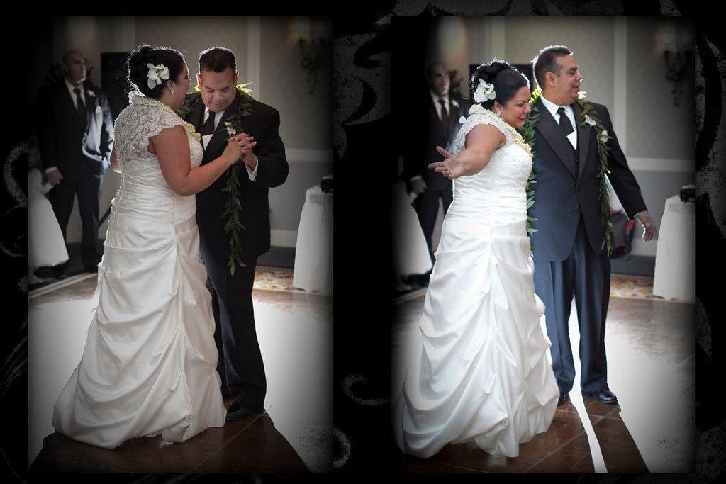 I love to backlit the first dance of the bride and groom.