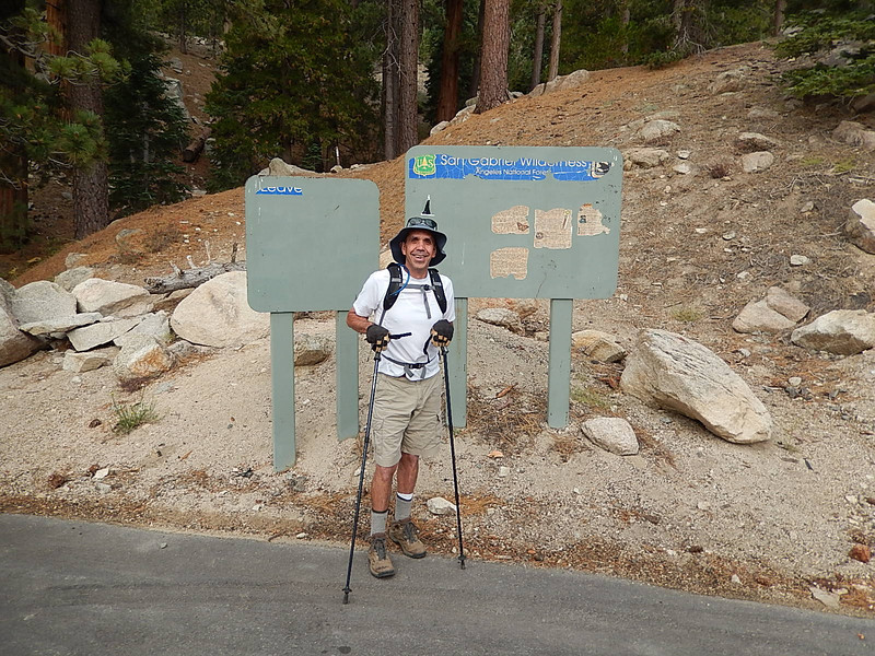 Spence at the Trailhead
