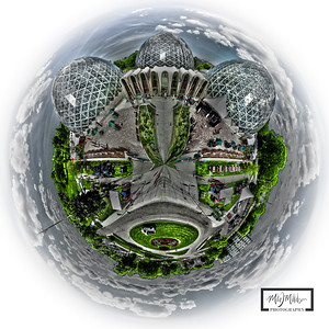 Planet Domes!  Spherical Panoramic of the Milwaukee Domes at Mitchell Park  © Copyright m2 Photography - Michael J. Mikkelson 2012. All Rights Reserved. Images can not be used without permission.