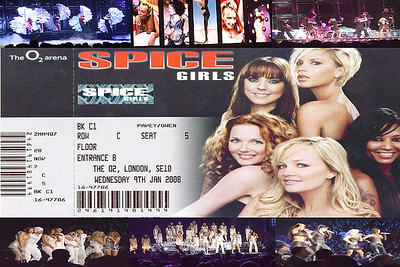 Spice Girls Reunion Tour at London O2 Arena on 9th January 2008 Photo by Owen Pavey