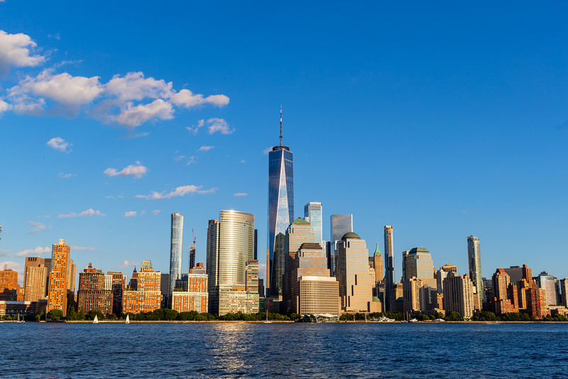 View of the Manhattan Skyline from, New York, USA