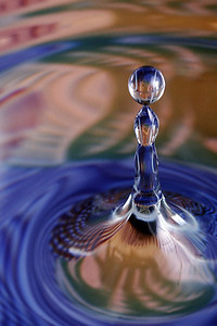 New World  A drop of water.