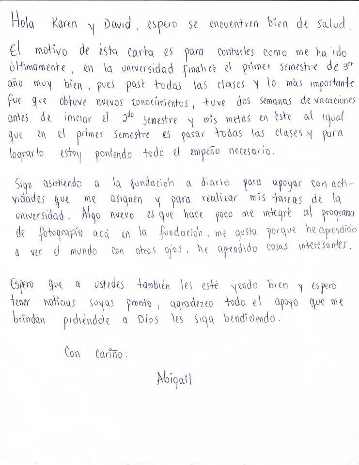 August letter 2015