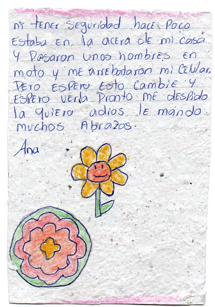Letter from Ana Auxiliadora to Neely, July 2018