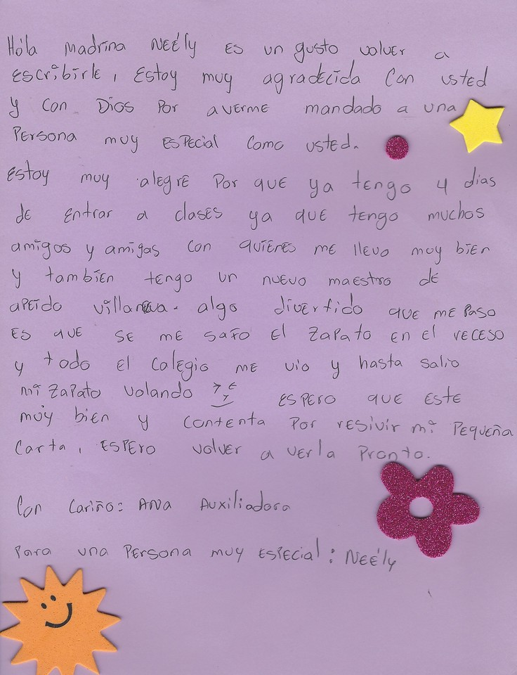 Letter From Ana to Neely (March 2017)