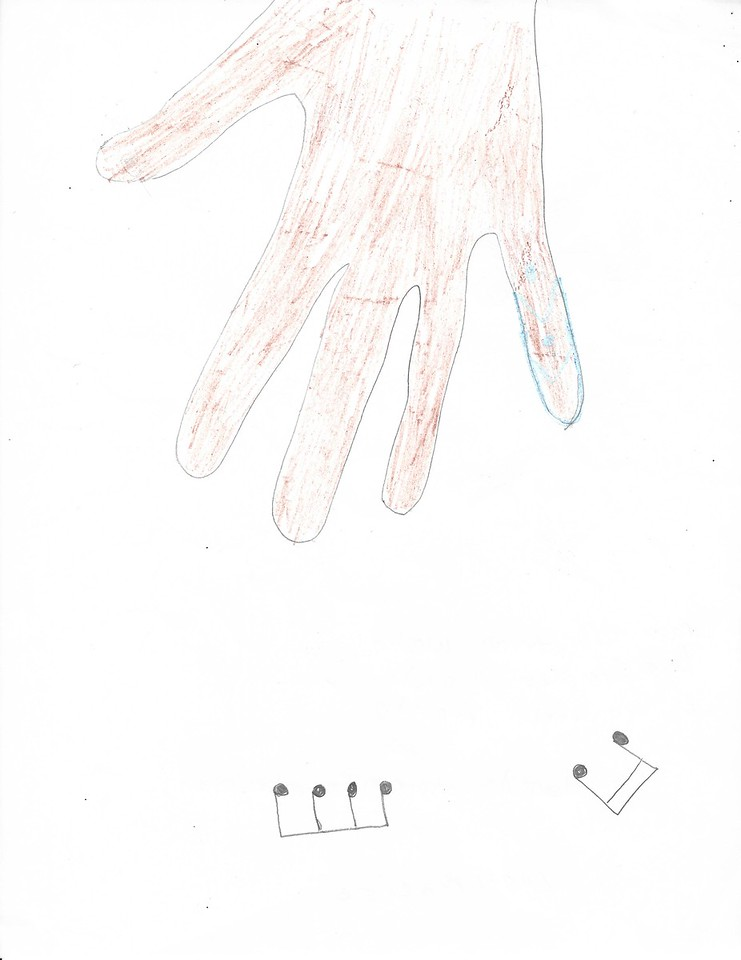 Angel Narciso's drawing of hand (April 2016)