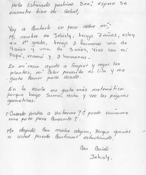 Letter from Jehisly September 2014