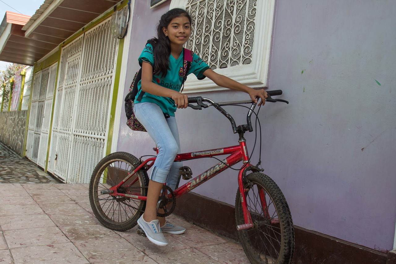 Every day she arrives on her bike to tutoring sessions