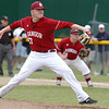 Bangor High School (23) Nick Cowperthwaite fires a pitch to a Falmouth hitter during Class A State Championship action at Fred Morton Field in Augusta Saturday. Bangor went on to defeat Falmouth in extra innings. Photo by Terry Farren