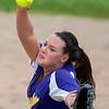 BUCKSPORT, Maine -- 05/25/2017 - Bucksport's Katelin Saunders pitches to Orono during their softball game in Bucksport Thursday. Ashley L. Conti | BDN