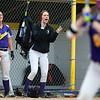 BUCKSPORT, Maine -- 05/25/2017 - Bucksport cheer on their teammate during their softball game against Orono in Bucksport Thursday. Ashley L. Conti | BDN