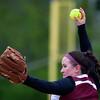 BUCKSPORT, Maine -- 05/25/2017 - Orono's Maddie Leclair pitches to Bucksport during their softball game in Bucksport Thursday. Ashley L. Conti | BDN