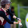 BUCKSPORT, Maine -- 05/25/2017 - Orono's Lizzie White connects with a pitch from Bucksport during their softball game in Bucksport Thursday. Ashley L. Conti | BDN