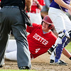 DEXTER, Maine -- 06/02/2017 - Dexter's Brayden Miller slides safely home past Bucksport during their baseball game in Dexter Friday. Ashley L. Conti | BDN