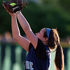 BREWER, Maine -- 06/13/2017 - Oceanside's Raechel Joyce makes an out against Old Town during their Class B North softball championship game at Coffin Field in Brewer Tuesday. Ashley L. Conti | BDN