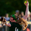 BREWER, Maine -- 06/13/2017 - Old Town's Mckenna Smith pitches to Oceanside during their Class B North softball championship game at Coffin Field in Brewer Tuesday. Ashley L. Conti | BDN