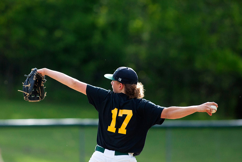 OLD TOWN, Maine -- 05/24/2017 - Old Town's Brenden Gasaway pitches to Orono during their baseball game in Old Town Wednesday. Ashley L. Conti | BDN