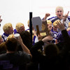 ORONO, Maine -- 03/07/2017 -- Waterville celebrates after defeating Old Town-Orono during their Class B North hockey championship game at Alfond Arena in Orono Tuesday. Ashley L. Conti   BDN