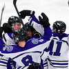 ORONO, Maine -- 03/07/2017 -- Waterville celebrates after scoring on Old Town-Orono during their Class B North hockey championship game at Alfond Arena in Orono Tuesday. Ashley L. Conti | BDN