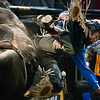 "BANGOR, Maine -- 03/11/2017 -- Shawn Best II is bucked off Slow Ride during the Professional Bull Riders Velocity Tour ""Bangor Buck Off,"" at Cross Insurance Center in Bangor Saturday. Ashley L. Conti 