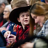 """BANGOR, Maine -- 03/11/2017 -- A young fan watches during the Professional Bull Riders Velocity Tour """"Bangor Buck Off,"""" at Cross Insurance Center in Bangor Saturday. Ashley L. Conti 