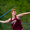 DOVER-FOXCROFT, Maine -- 06/03/2017 - George Stevens Academy's Joseph Norwood competes in the javelin throw as part of the State Class C Track and Field Championship Meet at Foxcroft Academy in Dover-Foxcroft Saturday.  Ashley L. Conti | BDN