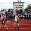 DOVER-FOXCROFT, Maine -- 06/03/2017 - George Stevens Academy's Erik Taylor-Lash (left) and Lisbon's Michael Schlotterbeck compete in the 1600 meter race walk as part of the State Class C Track and Field Championship Meet at Foxcroft Academy in Dover-Foxcroft Saturday.  Ashley L. Conti | BDN