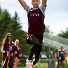 DOVER-FOXCROFT, Maine -- 06/03/2017 - Mattanawcook Academy's Cayden Spencer-Thompson competes in the triple jump during the State Class C Track and Field Championship Meet at Foxcroft Academy in Dover-Foxcroft Saturday. Spencer-Thompson placed first in the event and set a new state record. Ashley L. Conti | BDN