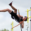 DOVER-FOXCROFT, Maine -- 06/03/2017 - Orono's Matt Keresey tries to clear the bar while pole vaulting during the State Class C Track and Field Championship Meet at Foxcroft Academy in Dover-Foxcroft Saturday.  Ashley L. Conti | BDN