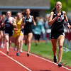 DOVER-FOXCROFT, Maine -- 06/03/2017 - Orono's Hannah Steelman leads the pack during the 1600 meter run as part of the State Class C Track and Field Championship Meet at Foxcroft Academy in Dover-Foxcroft Saturday. Steelman took first in the event. Ashley L. Conti | BDN
