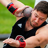 DOVER-FOXCROFT, Maine -- 06/03/2017 - Orono's Jake Koffman throws during the shot put as part of the State Class C Track and Field Championship Meet at Foxcroft Academy in Dover-Foxcroft Saturday. Koffman placed first in the event. Ashley L. Conti | BDN