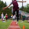 DOVER-FOXCROFT, Maine -- 06/03/2017 - Mattanawcook Academy's Cayden Spencer-Thompson competes in the long jump during the State Class C Track and Field Championship Meet at Foxcroft Academy in Dover-Foxcroft Saturday.  Ashley L. Conti | BDN