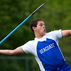 DOVER-FOXCROFT, Maine -- 06/03/2017 - Seacoast's Caleb LaCroix competes in the javelin throw during the State Class C Track and Field Championship Meet at Foxcroft Academy in Dover-Foxcroft Saturday.  Ashley L. Conti | BDN