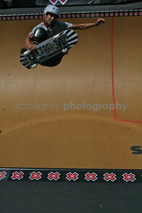 This young Vert Mens competitor launches high above the coping during a practice run.