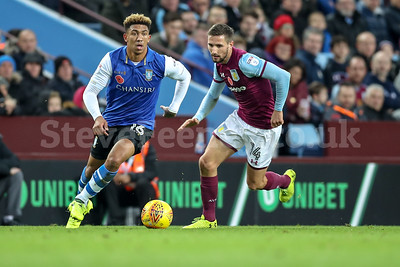 2017 EFL Championship Aston Villa v Sheff Wed Nov 4th