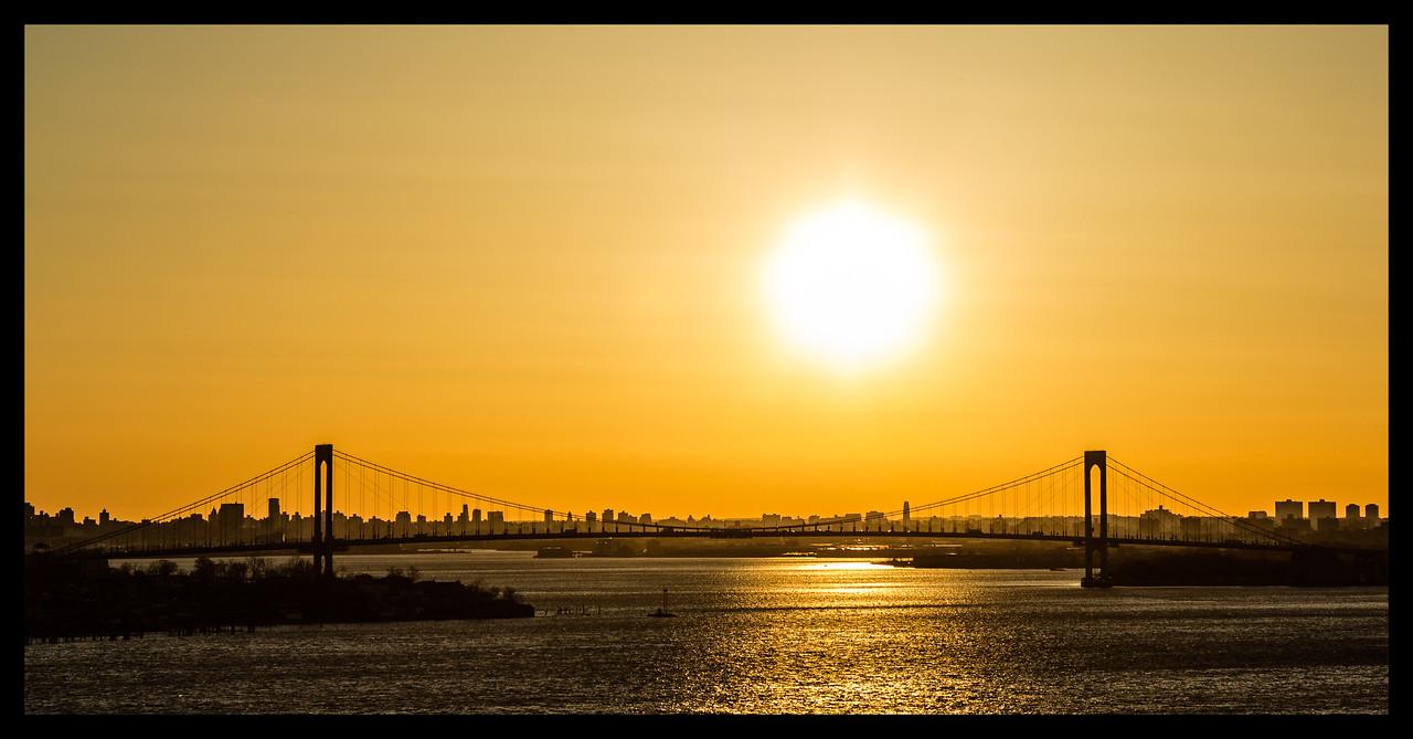 Whitestone Bridge at sunset
