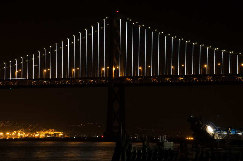 One segment of Bay Bridge, San Francisco, CA