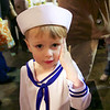 Graham trying to salute before his circus performance