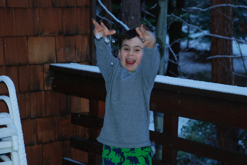 "Theo's first ""snowstorm"" (not the last)"