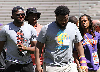 From left: Austin Bryant, Clelin Ferrell, Christian Wilkins, T.J. Chase